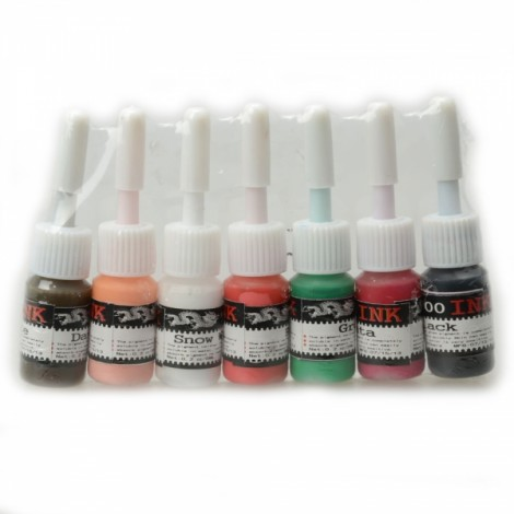 7 Color 5ml Professional Tattoo Ink Set OL10585-3