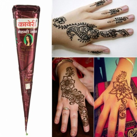 Natural Herbal Quick Dry Henna Paste Cone Temporary Tattoo Body Art 25g Natural Reddish Brown