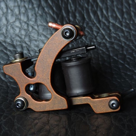 Panther XHJ003C 10-Coil Shader Tattoo Machine Red Bronze