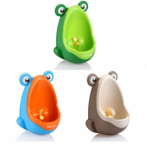 Cute Children Frog Shaped Wall-hung Urinal Practical Kids Boys Pee Trainer Random Color