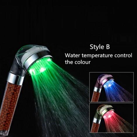 Crystal Tourmaline SPA Anion LED Shower Head Style B