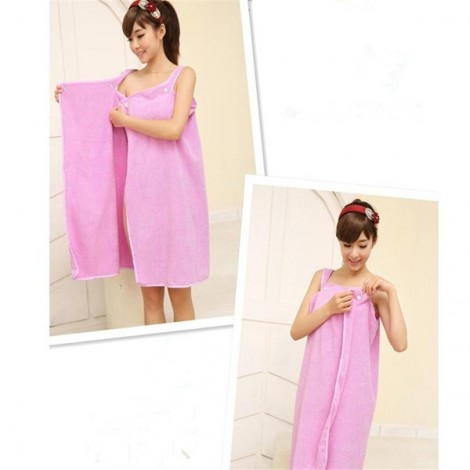 Women Sexy Bath Towel Wearable Beach Towel Soft Beach Wrap Skirt Super Absorbent Bath Gown Purple