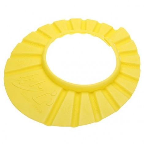 Child Baby Adjustable Soft EVA Shampoo Shower Cap Bathing Protection Hat Waterproof Shield Yellow