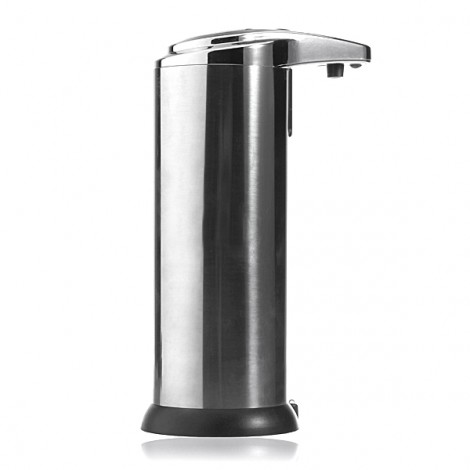 280mL Stainless Automatic Sensor Handsfree Soap Dispenser Black & Silver