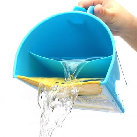 Plastic Baby Kids Child Shampoo Rinser Shower Cup Bath Pail Blue