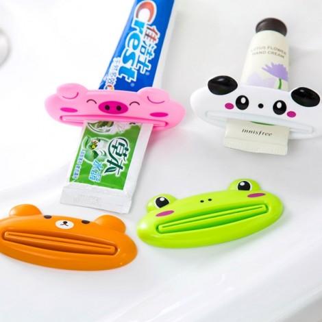 3pcs Cute Animal Cartoon Design Manual Toothpaste Facial Cleanser Squeezer Panda