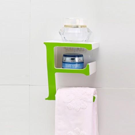 Creative Letter E Bathroom Storage Rack Kitchen Sponge Holder Shelf Green