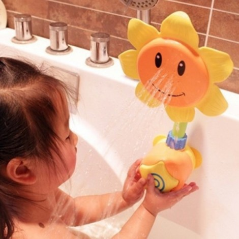 Baby Bath Toy Sunflower Shower Faucet Shower Random Color