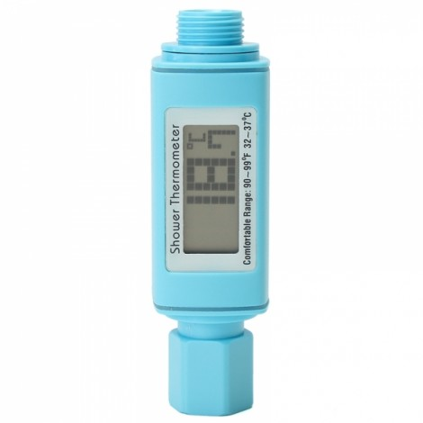 Digital Shower Head Water Thermometer Water Temperture Meter Monitor for Baby Care - Blue