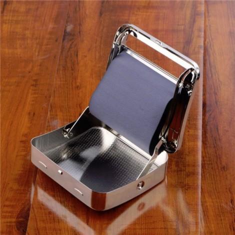 Metal Automatic Cigarette Tobacco Roller Rolling Machine Box Silver
