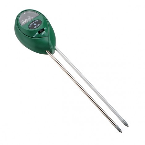 3-in-1 Oval Garden Soil Analysis Tester Hygrometer Acidity PH Light Test Green