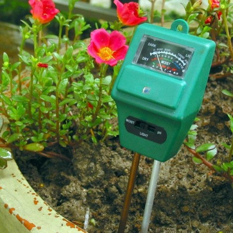 3-in-1 Tetragonum Garden Soil Analysis Tester Hygrometer Acidity PH Light Test