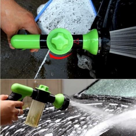 Adjustable Foam Garden Watering Sprayer Foaming Car Washing Gun Spray Nozzle Tool Green