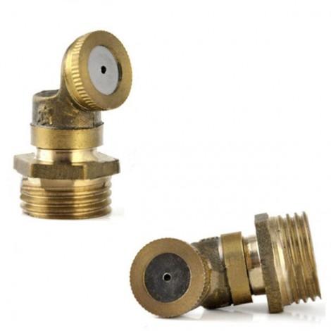 1 Hole Brass Agricultural Mist Spray Nozzle for Garden Irrigation System Golden