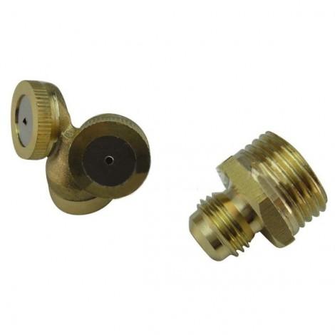 2 Holes Brass Agricultural Mist Spray Nozzle for Garden Irrigation System Golden