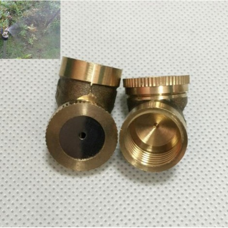 M14 x 1.5 Single Hole Brass Agricultural Mist Spray Nozzle Garden Sprinklers Golden