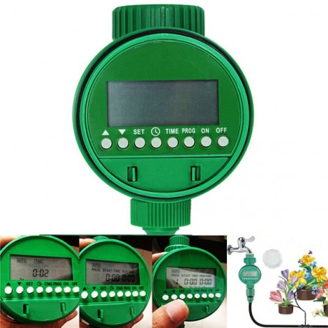 Intelligent Automatic Flowers Watering Timer House Garden Water Timer Green
