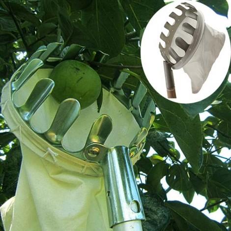 Practical Orchard Fruit Picker Gardening Fruits Picking Tool Silver