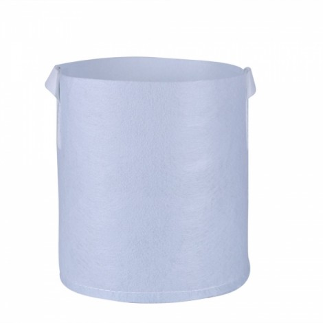 Non-woven Carry-on Planting Bag Home Gardening Vegetable Grow Bag 40 x 35cm White