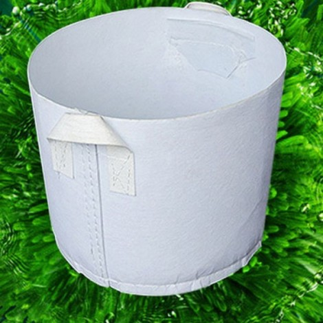 Non-woven Carry-on Planting Bag Home Gardening Vegetable Grow Bag 45 x 40cm White
