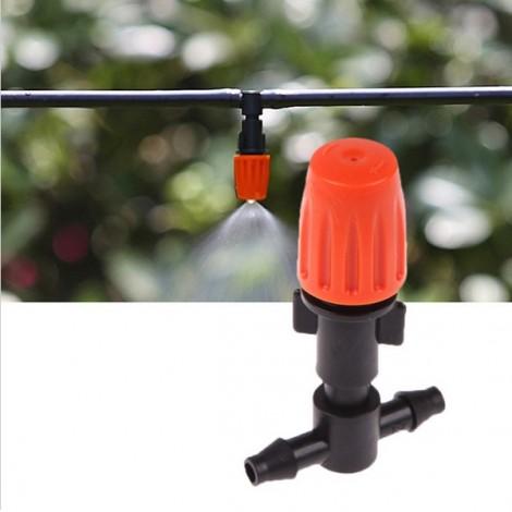 10 Meters Hose 15 pcs Adjustable Spray Dripper DIY Micro Drip Irrigation System Plant Self Watering Garden Hose Kits Red & Green & Black