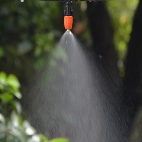 5 Meters Hose 5 pcs Adjustable Spray Dripper DIY Micro Drip Irrigation System Plant Self Watering Garden Hose Kits Red & Green & Black