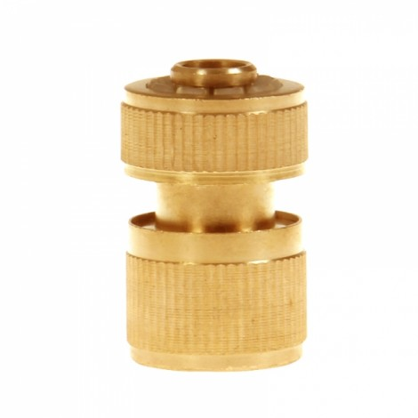 Brass Garden Lawn Water Hose Pipe Fitting Set Connector Tap Adaptor 12mm Golden