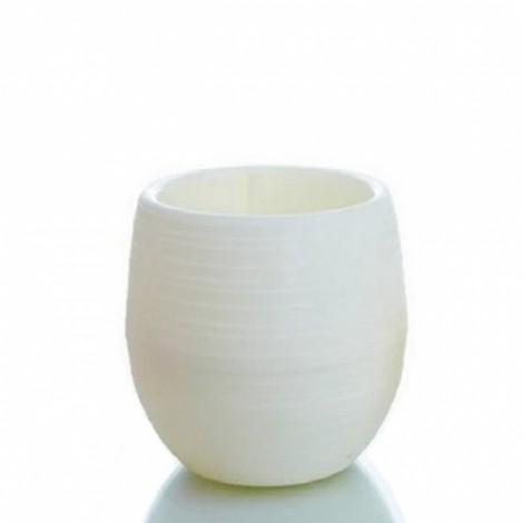 5Pcs Colorful Cute Plant Flower Pot Mini Plastic Round Planter Garden Supplies-White
