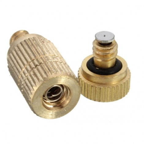 3/16 Inch Garden Irrigation Brass Misting Spray Nozzle Cooling Humidification Sprinkler-0#1010