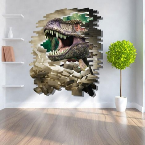 3D Dinosaur Style Removable Wall Sticker Water Resistant Decorative Art Poster aw8002B