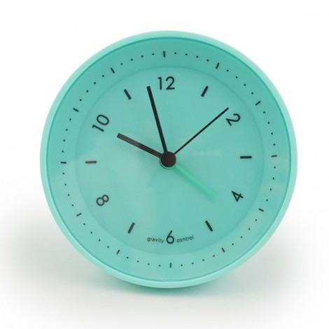 Stylish Jelly Gravity Control Bedside Alarm Clock Mute Clock Blue