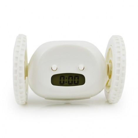 Magical Running Alarm Clock Hide and Seek Creative Alarm Clocks Lazy Bane Home Decor Gift White