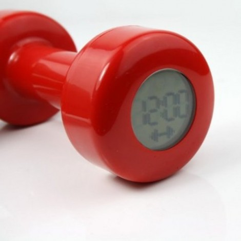 Creative Dumbbell Shape Timer 2 Working Modes Exercise Alarm Clock Red