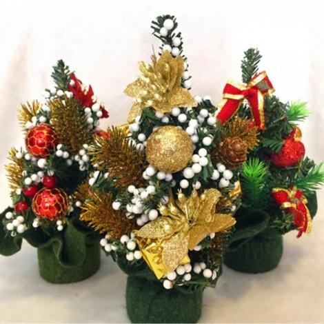Christmas Decoration Gifts Mini Christmas Tree Desk Table Decor Gift Random Color