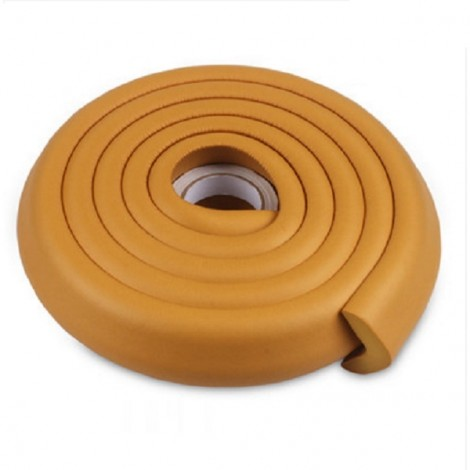 2m Kid Safety Soft Foam Protective Cushion Bumper Desk Table Furniture Edge Corner Guard Strip with Tape Khaki
