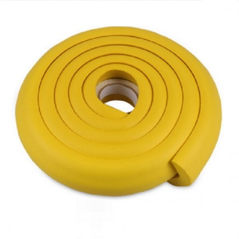 2m Kid Safety Soft Foam Protective Cushion Bumper Desk Table Furniture Edge Corner Guard Strip with Tape Yellow