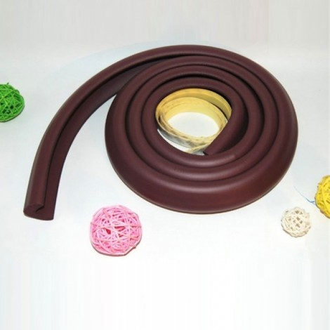2m Soft Foam Child Baby Toddler Protection Safety Desk Table Wall Edge Corner Bar Guard Strap Band Brown