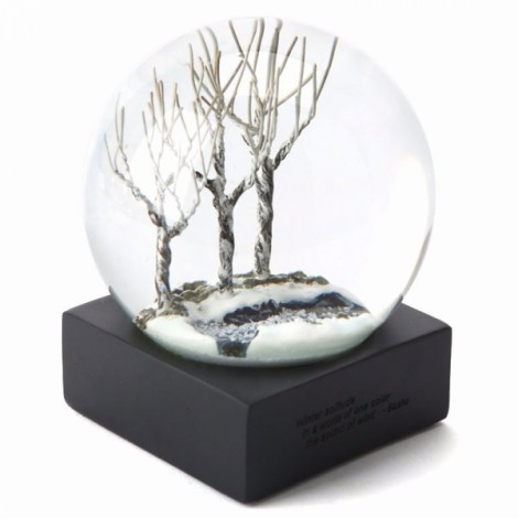 9 Pig Winter Scenery Cherry Blossom Crystal Ball Home Decoration Gift