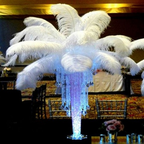 New 10 PCS Wholesale Quality Natural Ostrich Feathers Party Wedding Decoration 12-14 Inch White