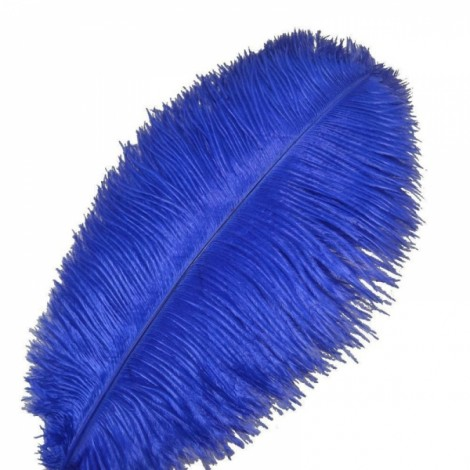 10pcs 12-14 Inch 30-35cm Natural Ostrich Feathers Party Wedding Decoration Royalblue