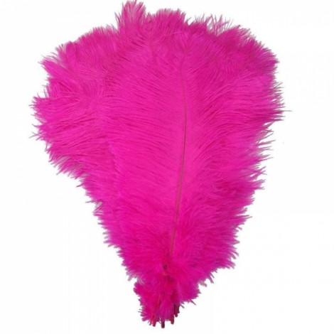 10pcs 12-14 Inch 30-35cm Natural Ostrich Feathers Party Wedding Decoration Rose Red