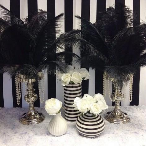 10pcs 16-18 Inch 40-45cm Natural Ostrich Feathers Party Wedding Decoration Black