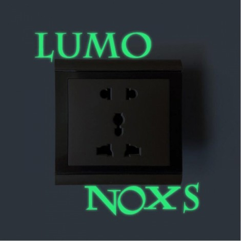 Cute DIY Luminous Switch Sticker Removable Glow In The Dark Wall Decal Home Decor #02 LUMO NOXS Pattern