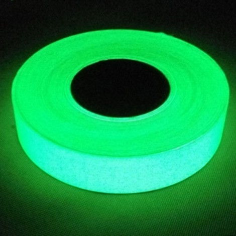 Self Adhesive Luminous Glow-in-the-dark Tape Stage Home Decor Green 2cm*5m