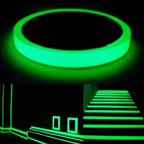 Self Adhesive Luminous Glow-in-the-dark Tape Stage Home Decor Green 4cm*5m