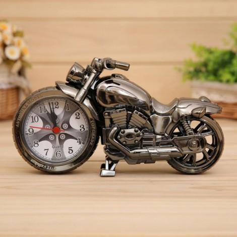 Creative Motorcycle Alarm Clock Watch Motorbike Home Vintage Decor Gift #2 Gray