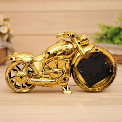Creative Motorcycle Alarm Clock Watch Motorbike Home Vintage Decor Gift #4 Golden