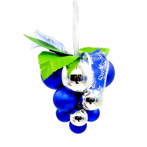 Christmas Ball Grape String Tree Decoration Hanging Ornament Blue