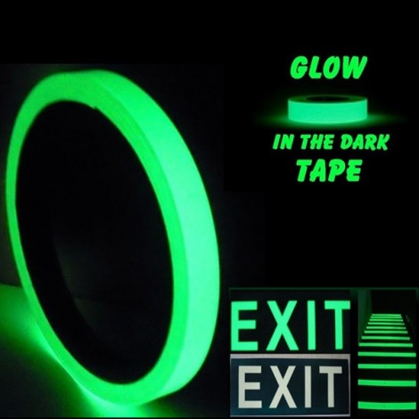 Self Adhesive Luminous Glow-in-the-dark Tape Stage Home Decor Green 1.5cm*10m
