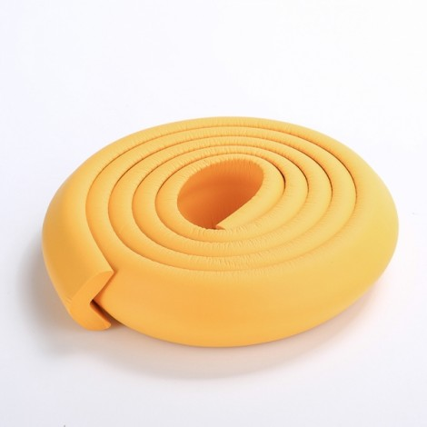 200CM L-Shaped Glass Table Corner Protector Edge Cushion Baby Safety Guard Orange